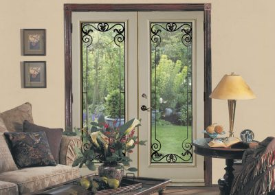 Door Steel Garden Wrought Iron Rome Glass 2