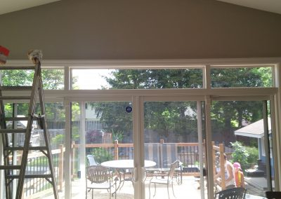 patio door with sidelites and transom